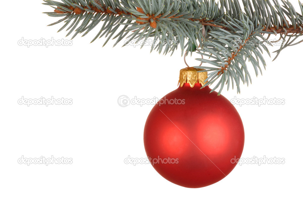 Isolated Christmas tree decoration — Stock Photo #2620087