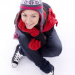Smiling girl in winter clothes — Stock Photo