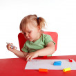 Stock Photo: Painting little girl