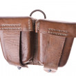 Leather ammo pouch - Stock Photo