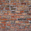 Old wall from red brick — Stock Photo
