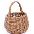 Empty brown wicker basket — Stockfoto