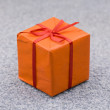 Orange gift box — Foto de Stock