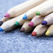Collection of colouring pencils — Stock Photo