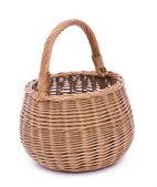 Empty brown wicker basket — Stock Photo