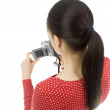 Woman with digital camera — Stock Photo