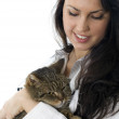 Young woman with cat — Stock Photo #2252744