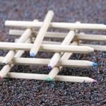 木制彩色的铅笔蜡笔 — 图库照片