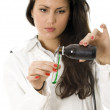 Female doctor in laboratory — Stock Photo #2425650