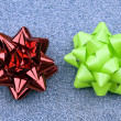 Red and green gift bows - Stock Photo