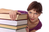Young student with the book — Stock Photo