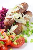 Fried sausage. — Stock fotografie