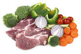 Pork meat and vegetable. — Stock Photo