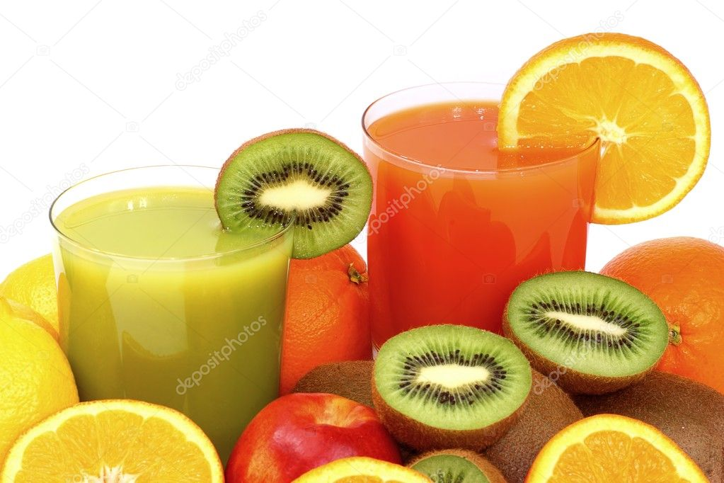 Fruit juice isolated on a white background.  Stock Photo #1628445