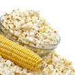 Popcorn and corn. — Stock Photo