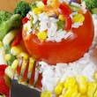 Stuffed tomato. — Stock Photo