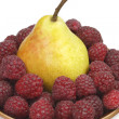Pear and raspberries - Stock fotografie