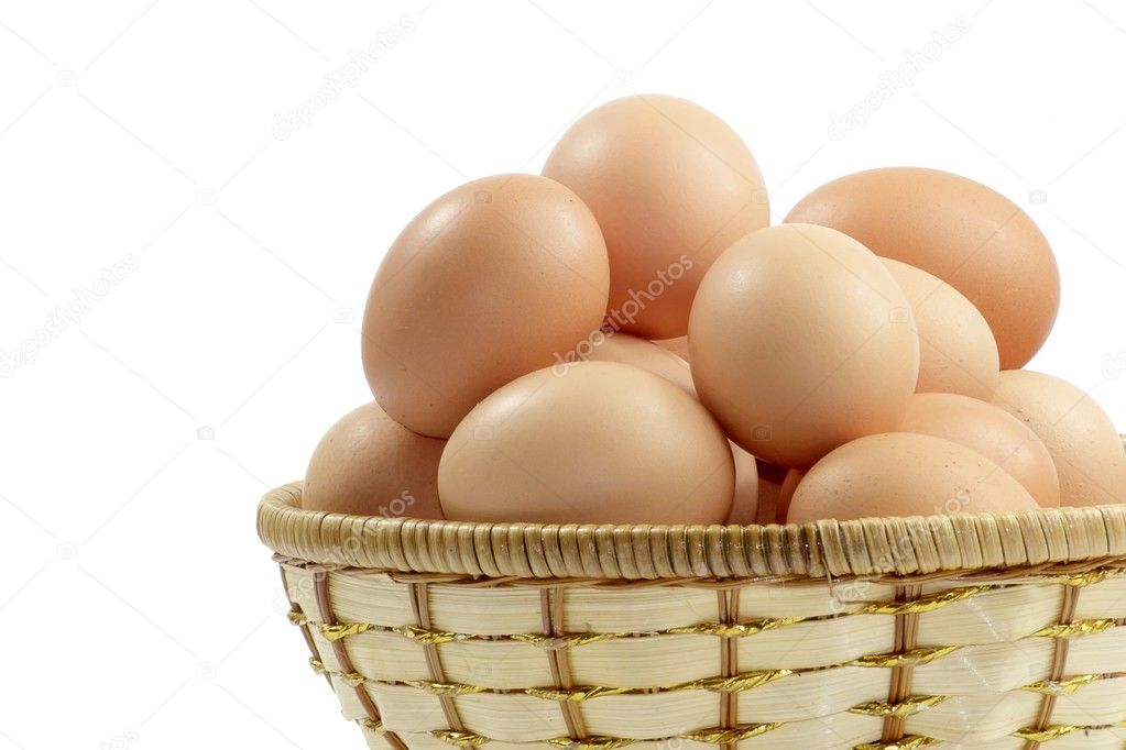 Eggs isolated on a white background. — Stock Photo #1646299