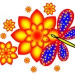 flor y la mariposa — Foto de Stock