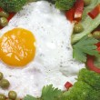 Egg and vegetable — Stock Photo