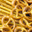 Stock Photo: Salted pretzels.