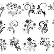 Foto Stock: Floral ornaments