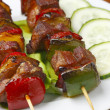 Fried skewers. - Stock Photo