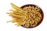 Salted pretzels. — Stock Photo