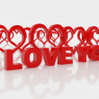 Stock Photo: Symbol of love