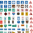 Hundred traffic signs — Vetorial Stock #1697531
