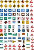 Hundred traffic signs — Vecteur