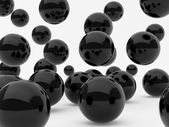 Black balls — Stock Photo