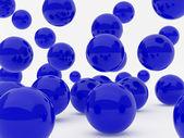 Dark blue balls — Stock Photo
