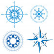 Stock Vector: Wind rose