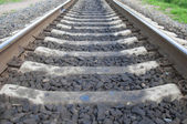 Rails set ten thirteen — Stock Photo