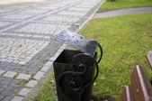 Bench in park of a city of Kaliningrad. — Stock Photo