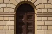 Door in a city building — Stock Photo