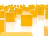 Cubitos de naranja — Foto de Stock
