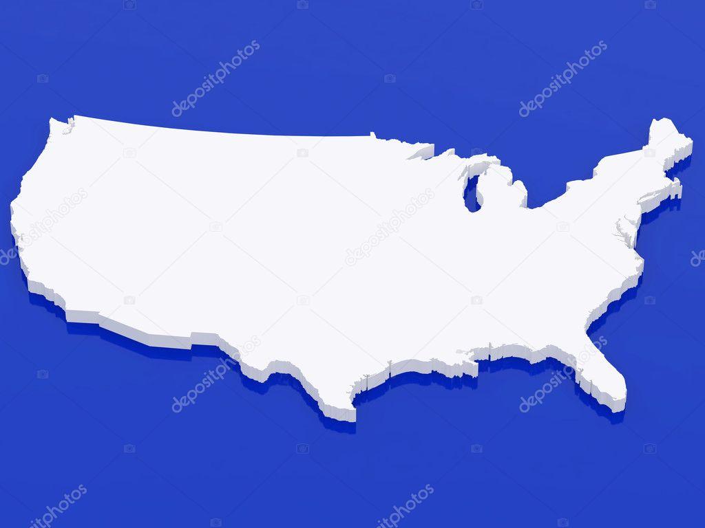 高分辨率图像白地图美国