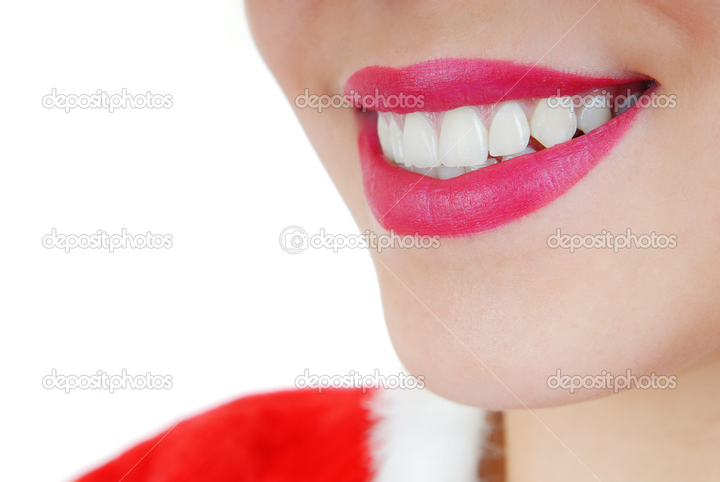 Close-up photo of the smiling woman with perfect healthy teeth — Stock Photo #1626067
