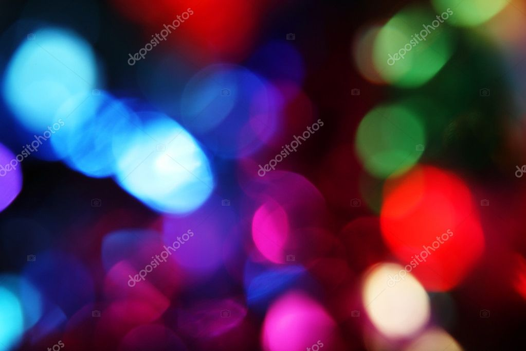 Blurry pattern of colorful decoration lights — Stock Photo #1626321