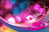 Magische valentine kaart — Stockfoto