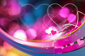 Magische valentinskarte — Stockfoto