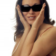 Smiling lady in sunglasses — Stock Photo