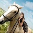 Me and my horse - Stock Photo