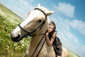 Me and my horse — Stock Photo