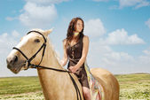 Serene equestrienne — Stock Photo