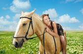 I love my horse — Stock Photo