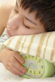 I love my alarm clock — Stock Photo