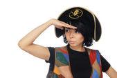 Capitano piratesche osservante — Foto Stock